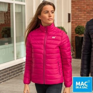 【MAC IN A SAC】女款輕暖袋著走雙面羽絨外套(LDS207桃紅/深藍/輕量保暖/戶外/休閒/收納體積小)  ATUNAS 歐都納