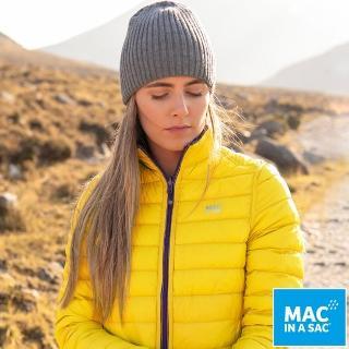 【MAC IN A SAC】女款輕暖袋著走雙面羽絨外套(LDS207黃/紫/輕量保暖/戶外/休閒/收納體積小)  ATUNAS 歐都納