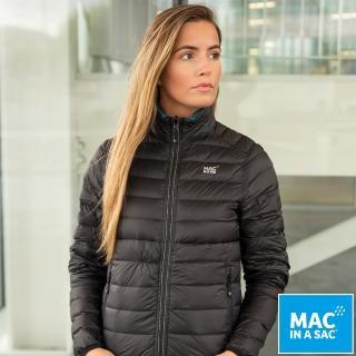 【MAC IN A SAC】女款輕暖袋著走雙面羽絨外套(LDS207黑/藍綠/輕量保暖/戶外/休閒/收納體積小)折扣推薦  ATUNAS 歐都納