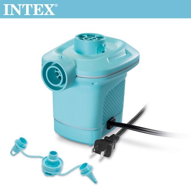 【INTEX】110V家用電動充氣幫浦_充洩二用-水藍色(58639)/