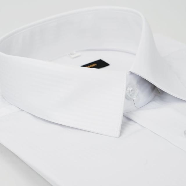 【金安德森】白色暗條紋吸排窄版長袖襯衫-fast/