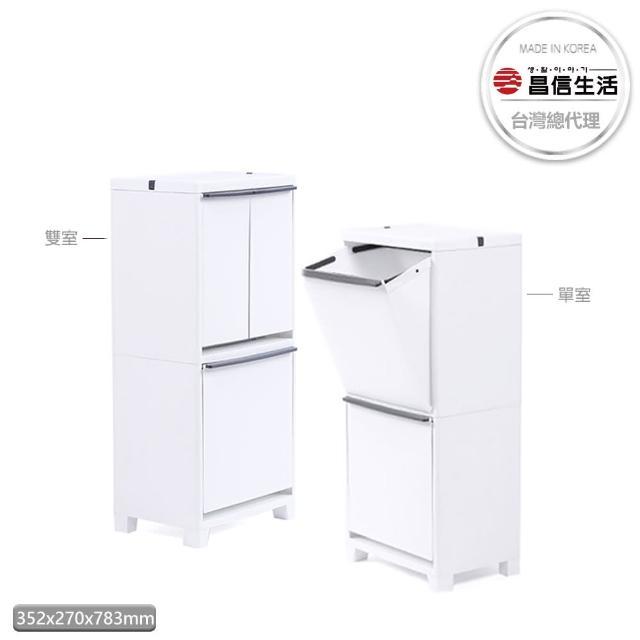 【韓國昌信生活】FRANCO居家抽屜式收納櫃40L(雙室/單室任選一)/