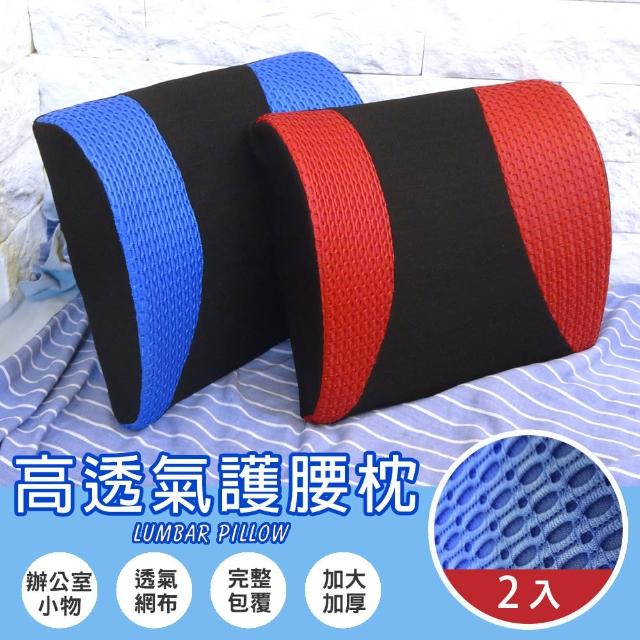 【Abt】多功能3D舒壓高透氣護腰枕/腰靠枕/抱枕/紓壓枕/靠枕-2色可選(2入)/