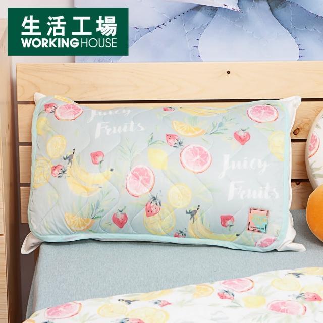 【生活工場】【618品牌週】沁甜果舞涼感枕頭墊2入組-綠/