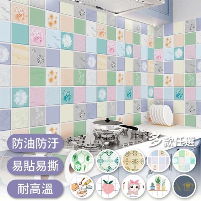 【半島良品】20款/炫染防水防油桌面廚房地板磁磚貼(防油貼