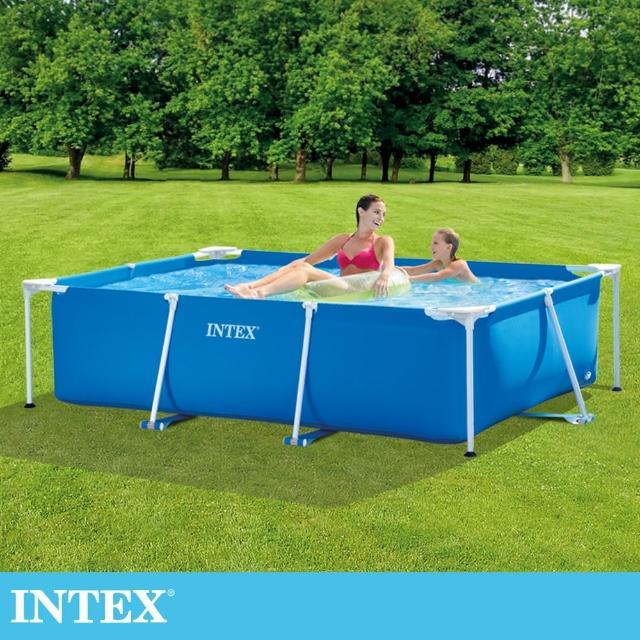 【INTEX】簡易裝長方型框架游泳池/戲沙池220x150x60cm_1662L(28270)/