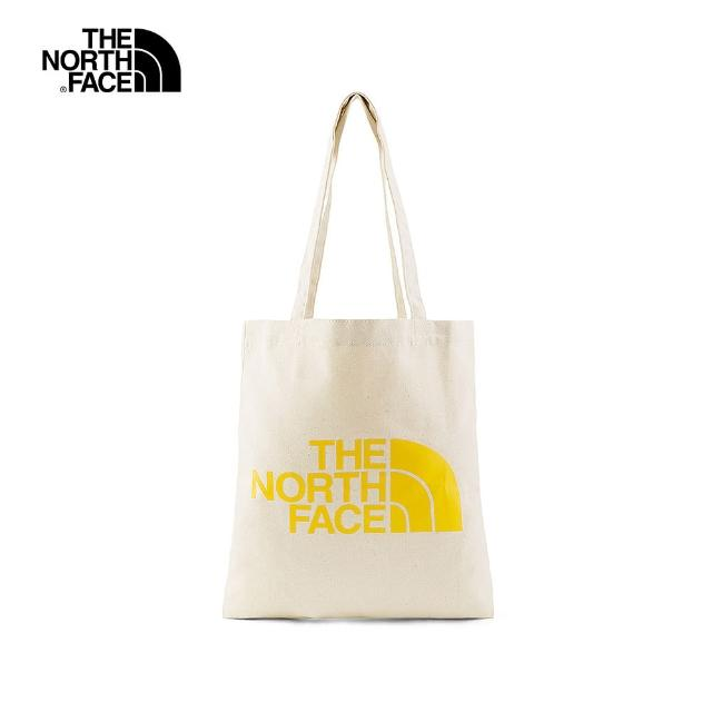 【The North Face】The North Face北面UE男女款黃色LOGO印花休閒側背包|4UCY56P