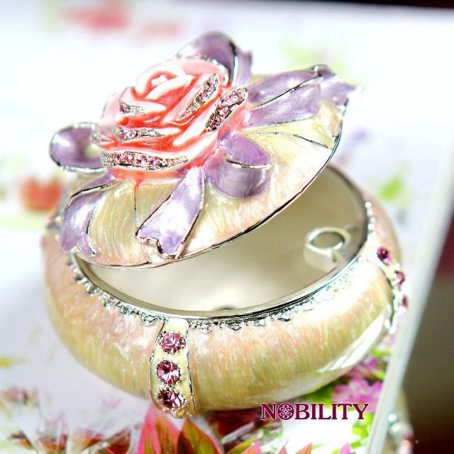 【三卡寶精品】玫瑰花婚禮•生日婚禮禮品晶鑽(珠寶盒)