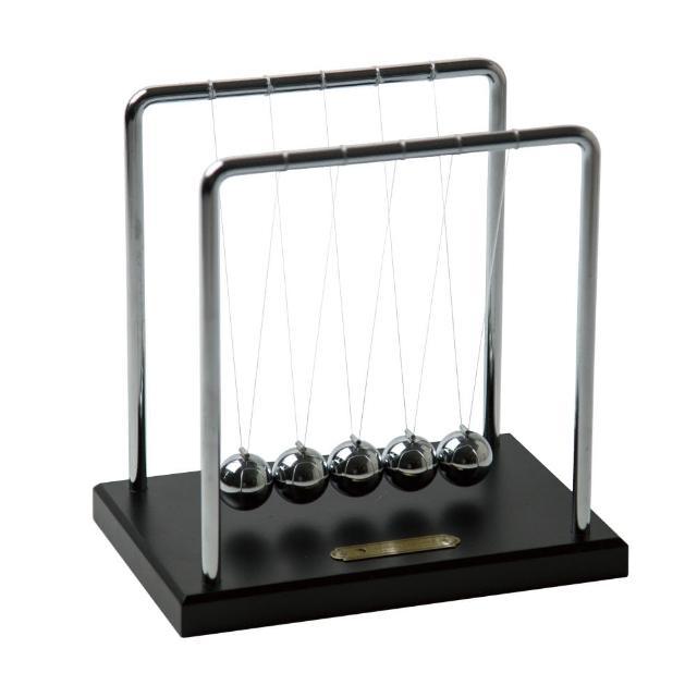 【Mr.sci 賽先生科學】牛頓球 / 慣性原理擺動球(冷酷黑)