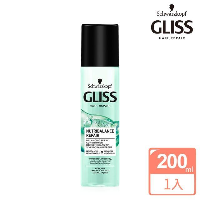 【Schwarzkopf 施華蔻】Gliss頭皮平衡修護護髮噴霧200ml