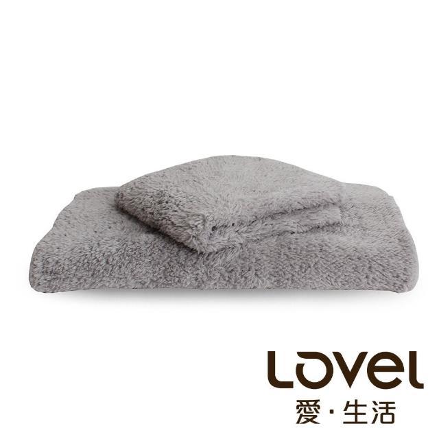 【Lovel】7倍強效吸水抗菌超細纖維毛巾/方巾2件組(共9色)