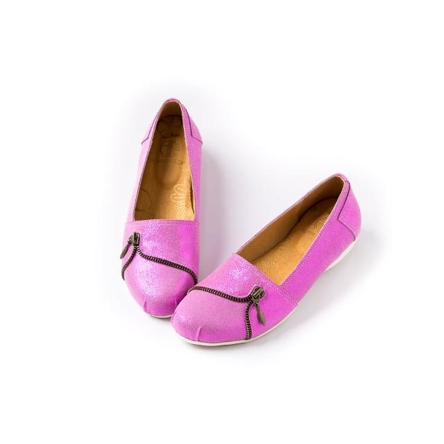 【ALAIN DELON】真皮舒適百搭女休閒鞋W7503(3色 黑色   灰色  粉色)