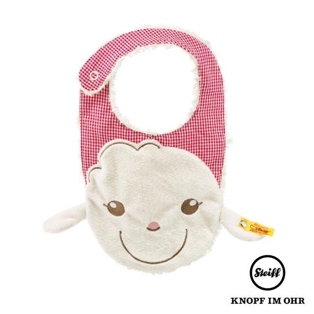 【STEIFF德國金耳釦泰迪熊】Lambaloo bib 棉羊(圍兜)