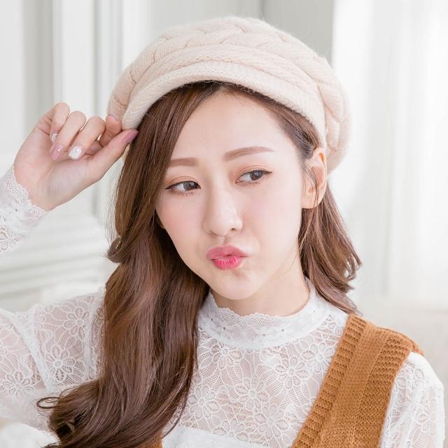 【Wonderland】針織保暖造型帽(杏)
