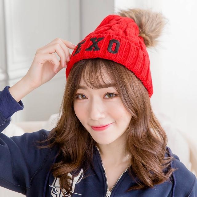 【Wonderland】針織保暖造型帽(紅)