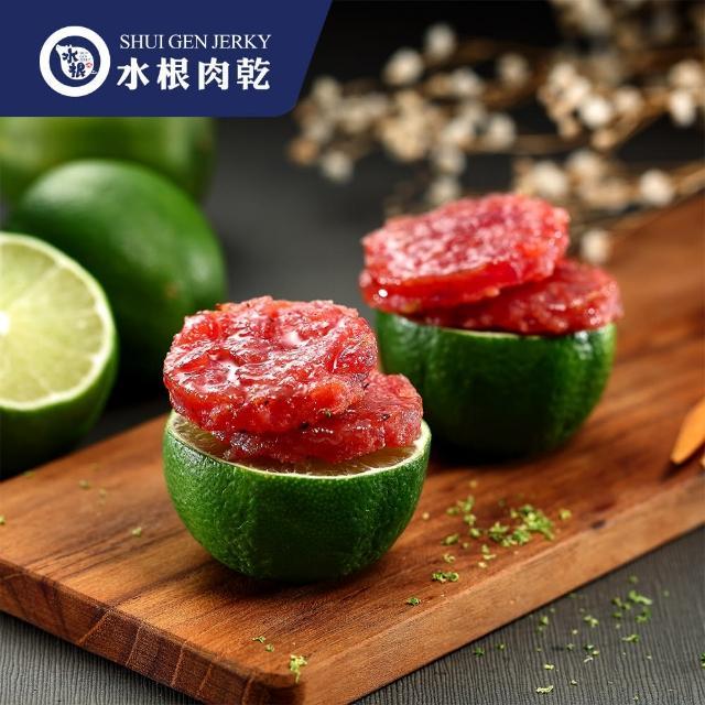 【水根肉乾】檸檬圓燒豬肉乾-輕巧包40g(手工烘烤台灣豬肉乾)