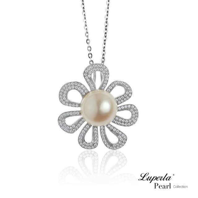 【大東山珠寶】花火燦爛 純銀晶鑽珍珠項鍊(時尚珍珠)