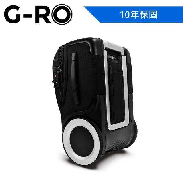 【G-RO】G-RO Hero 登機箱 黑/銀(G-RO 登機箱 大滾輪 大空間)
