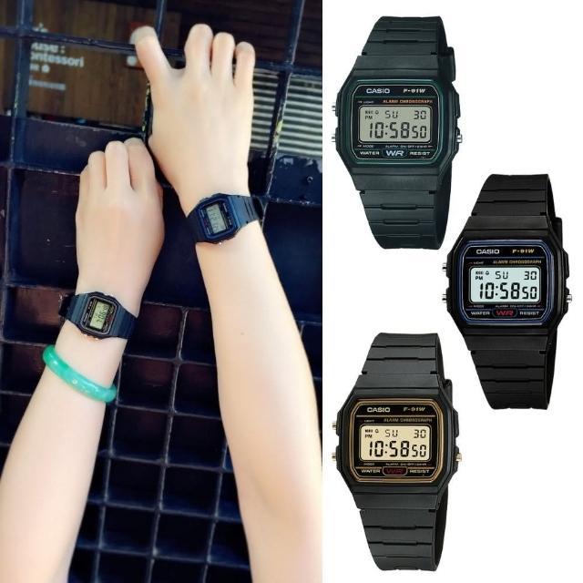 【CASIO 卡西歐】多元STANDARD電子錶系列(F-91W-1D)