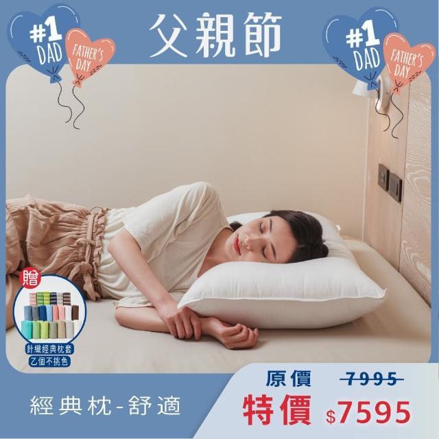 【Dpillow防疫類寢具】經典枕枕頭(舒適)抗菌 防蹣 平織滑順