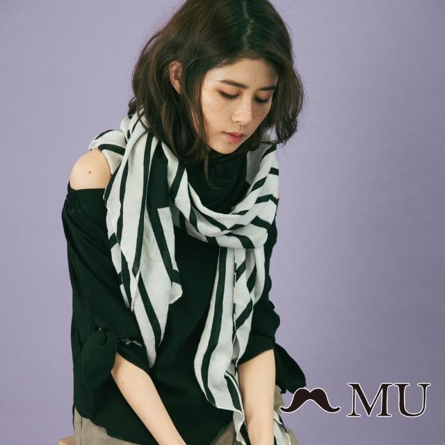 【maru.a】MU 一字領袖子綁結上衣(2色)