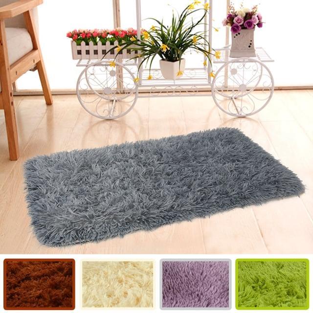 【幸福揚邑】長毛羊絲絨地墊40x60cm防滑吸水超軟舒壓地毯