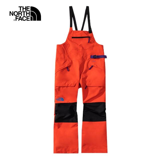 【The North Face】The North Face北面女款橘色防水透氣衝鋒褲|4R1BSH9