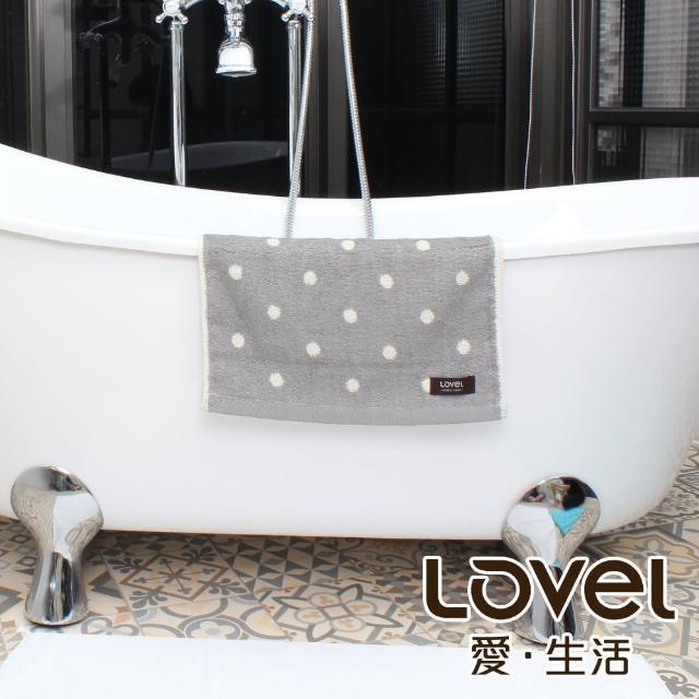【LOVEL】專利咖啡紗除臭抗UV圓點毛巾(共4色)