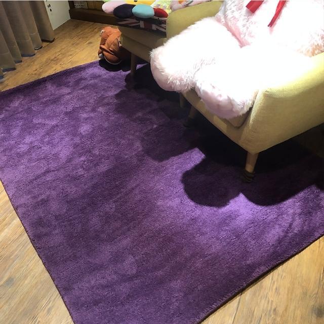 【山德力】凡地剛地毯 - 紫 160x230cm(地墊 多色 溫暖 冬天  生活美學)