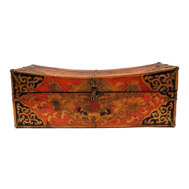 【十方佛教文物】珍寶箱{尼泊爾手工木雕}50cm(珍奇異寶)