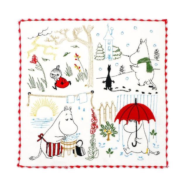 【Marushin 丸真】Moomin刺繡小方巾系列
