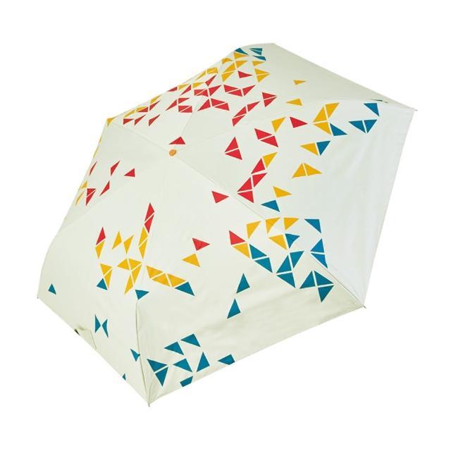 【rainstory】-8°降溫凍齡手開輕細口紅傘-撞色幾何-紅(遮光色膠系列)