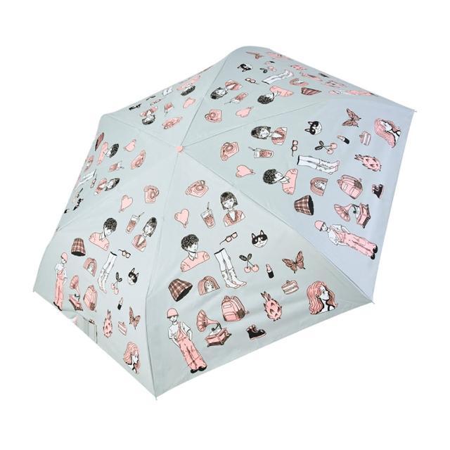 【rainstory】-8°降溫凍齡手開輕細口紅傘-繽紛派對(遮光色膠系列)
