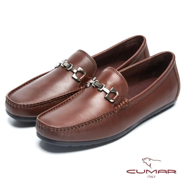 【CUMAR】雅痞時尚 百搭時髦牛皮帆船鞋(咖啡色)