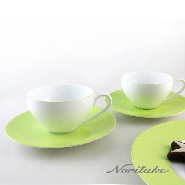 【NORITAKE】繽紛世界咖啡對杯-蘋果綠