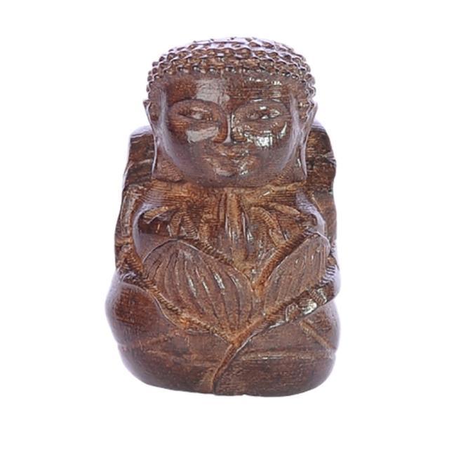 【十方佛教文物】如來佛{土沉木雕}平安吉祥(智慧增長  平安如意)