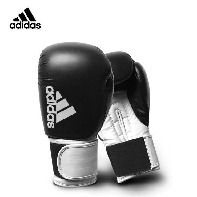 【adidas 愛迪達】Hybrid100 拳擊手套 黑白(踢拳擊手套、泰拳手套、沙包手套)