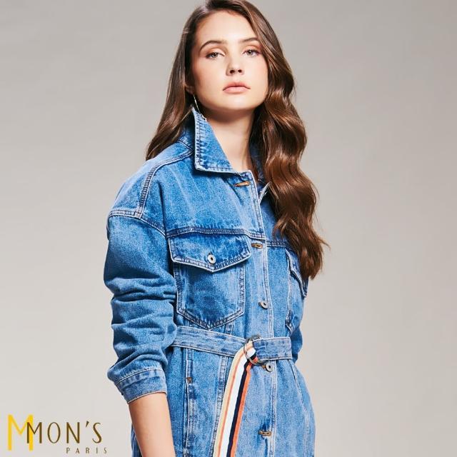 【MON'S】風衣式牛仔單寧外套