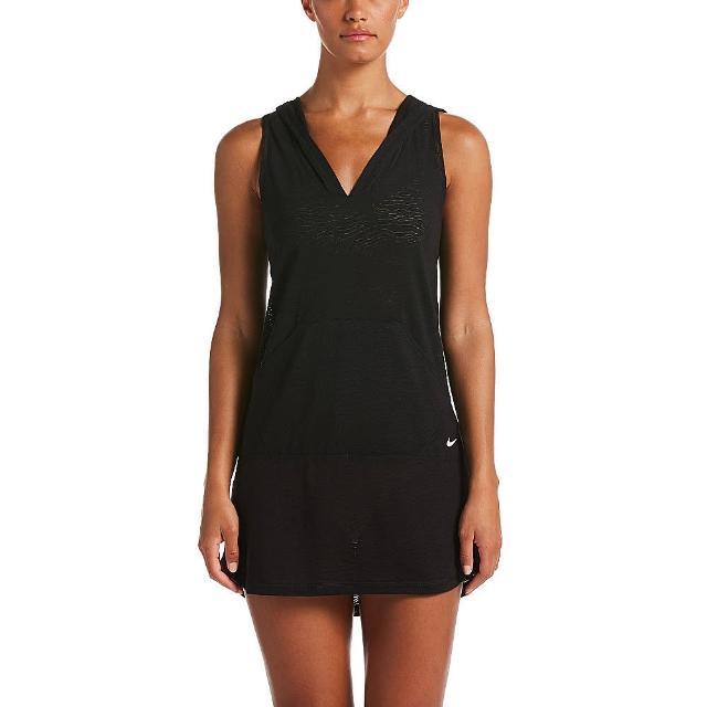 【NIKE 耐吉】成人 女性 長版 罩衫 黑 NESSA380-001