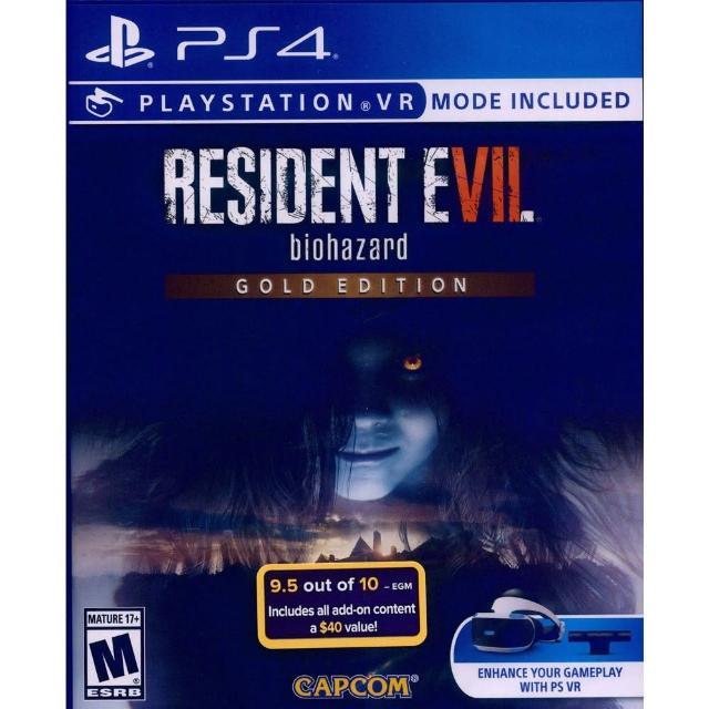 【SONY 索尼】PS4 惡靈古堡 7:生化危機 黃金版 中英日文美版(Resident Evil 7: Biohazard Gold Edition)