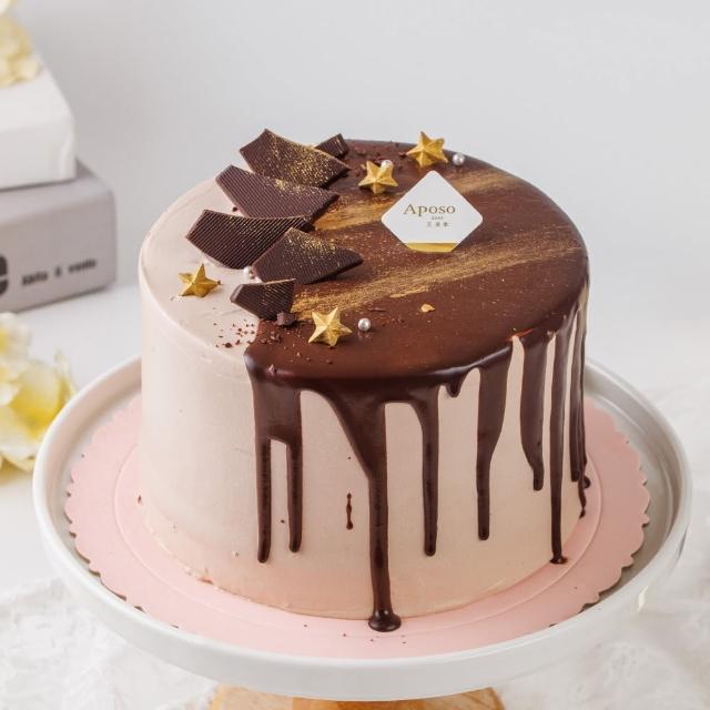 【艾波索】極光醇黑巧克力蛋糕6吋(蘋果日報母親節蛋糕亞軍)