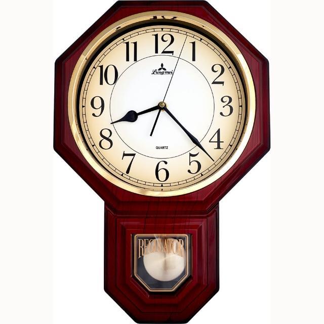 【鐘情坊 JUSTIME】復古典雅八角擺錘掛鐘(免運 台製多色款八角立體雙框漸層面 裝飾 時鐘)