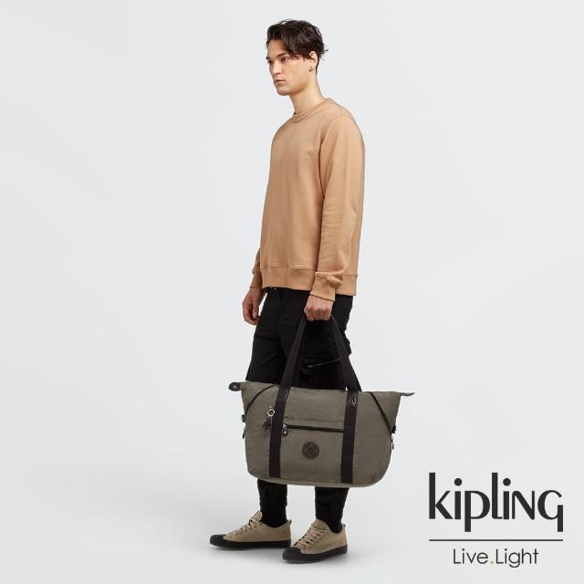 【KIPLING】炭焙濃韻綠手提側背包-ART M