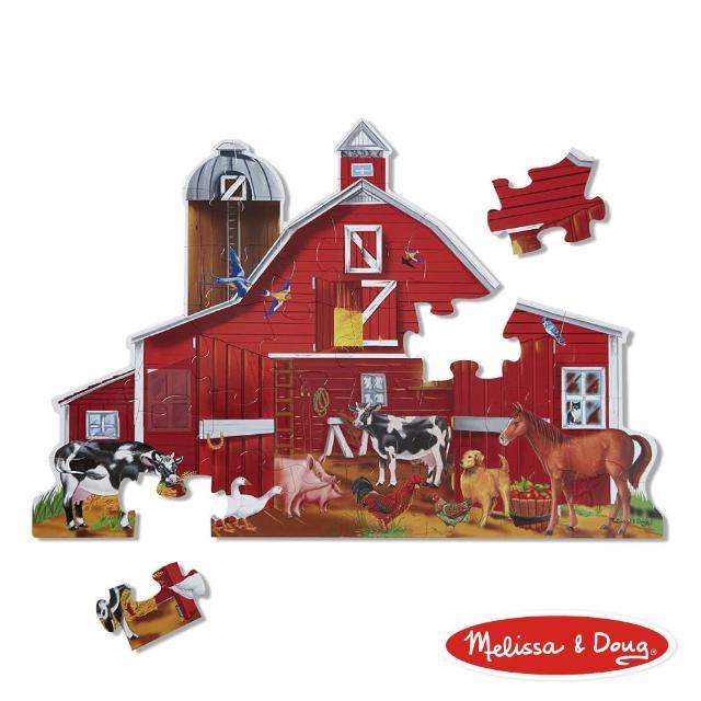 【Melissa & Doug 瑪莉莎】大型地板拼圖 - 農場動物(32片)