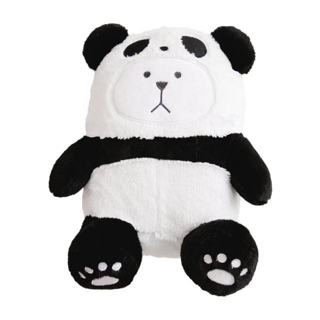 【CRAFTHOLIC 宇宙人】黑熊貓坐姿熊熊抱枕(熊貓系列)
