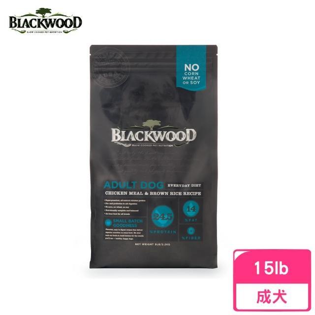 【BLACKWOOD 柏萊富】特調成犬活力配方(雞肉+糙米)15LB/6.8KG