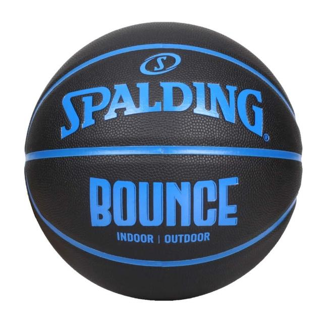 【SPALDING】BOUNCE 籃球-PU-7號球 室內 戶外 訓練 運動 斯伯丁 黑藍(SPB91004)