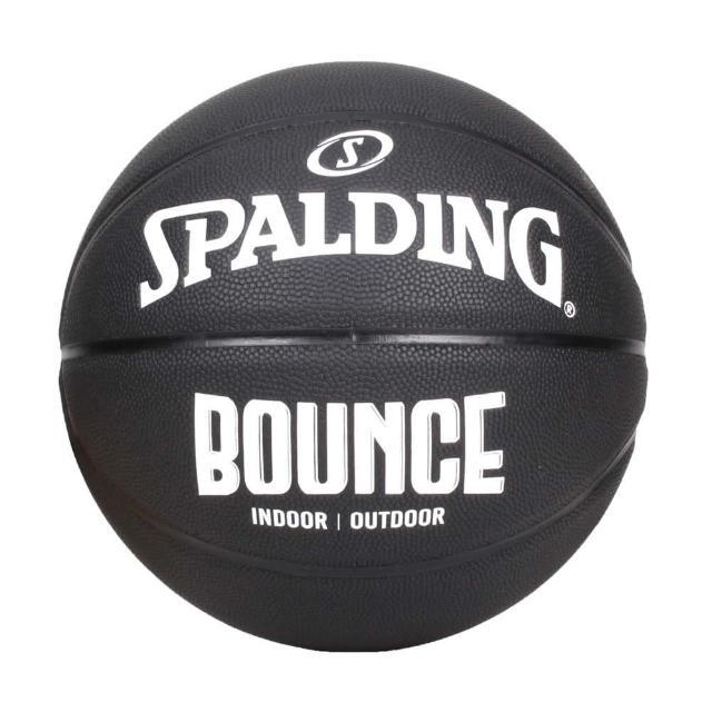 【SPALDING】BOUNCE 籃球-PU-7號球 室內 戶外 訓練 運動 斯伯丁 黑白(SPB91005)