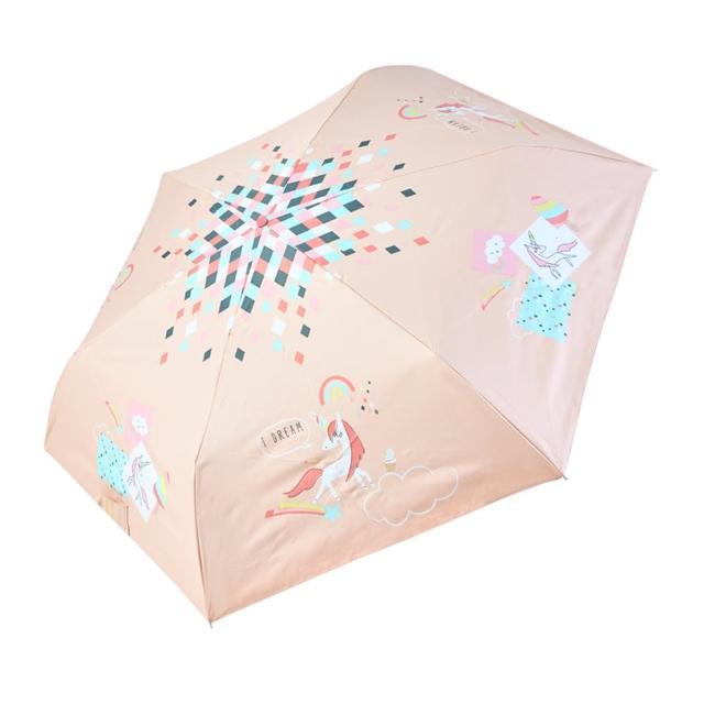 【rainstory】-8°降溫凍齡手開輕細口紅傘-獨角獸樂園(遮光色膠系列)