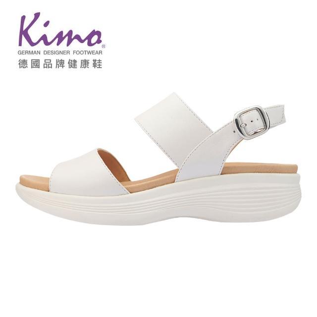 【Kimo】山羊皮一字繫帶涼鞋 女鞋(白 KBASF147040)